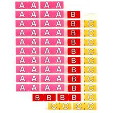 Half size colour alphabet label sheets