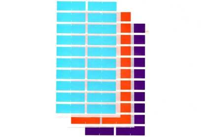 Half (1/2) size colour ID labels