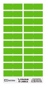 Half size Colour ID Labels. Light Green