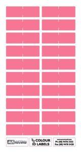 Half size Colour ID Labels. Pink