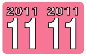 2011 Year Labels