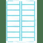 Ausrecord Index labels, Light Blue