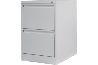 2 drawer steel filing cabinet in white