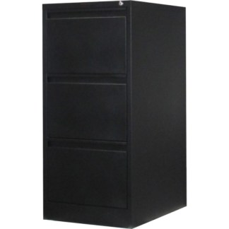 3 drawer steel filing cabinet in black
