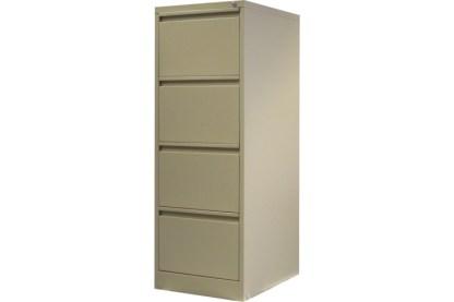 4 drawer steel filing cabinet in beige