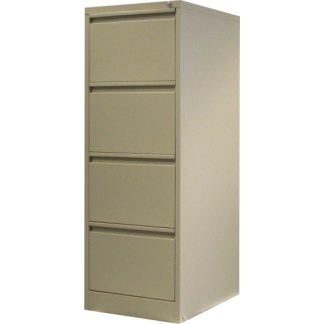 4 drawer steel filing cabinet in beige
