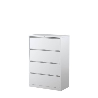 STEELCO 4 Drawer LFC 1320H x 915W x 463D White Satin