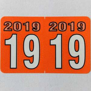2019 year label stickers