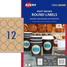 avery 980002 L7106 round kraft labels 180 pack