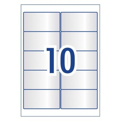 avery 980019 l7113 crystal clear rectangular labels for products 10 per page