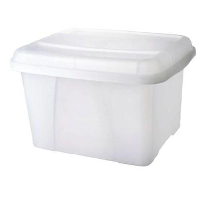 rexel crystalfile porta box 32l clear