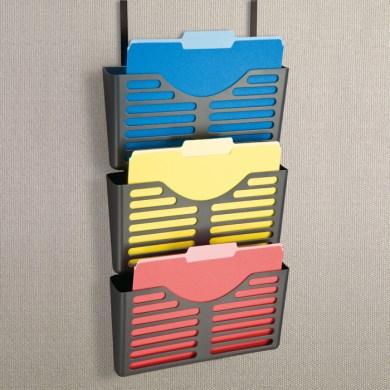 Esselte verticalmate file pocket 3 pack with hanger kit grey