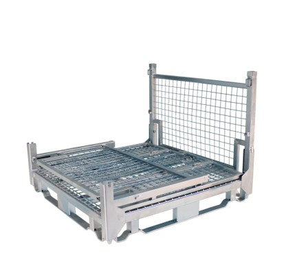 Pallet Cage Type A Single Medium Mesh floor hot dip galvanised three full sides down
