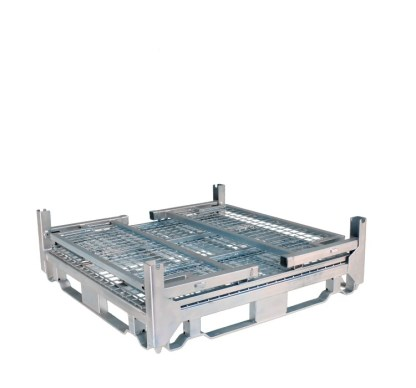 Pallet Cage Type A Single Mesh Floor Zinc Plated all sides folded down