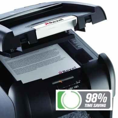 Rexel Auto+ 300M shredder 98% time saving