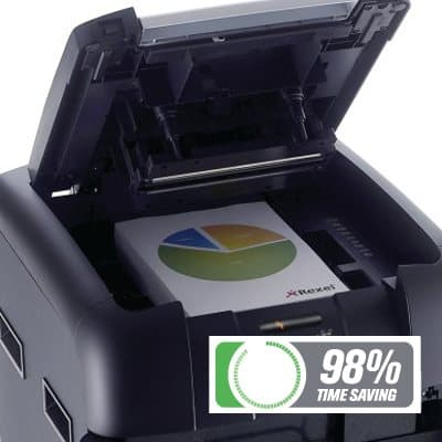 Rexel Auto+ 500M Micro Cut Shredder 98% time saving
