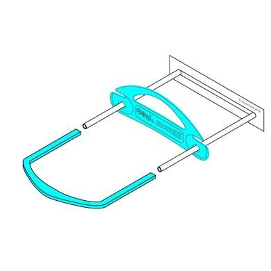 Ausrecord lp tube clip set low profile tube clip blue 600071
