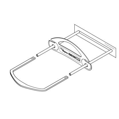 Ausrecord lp tube clip set low profile tube clip white