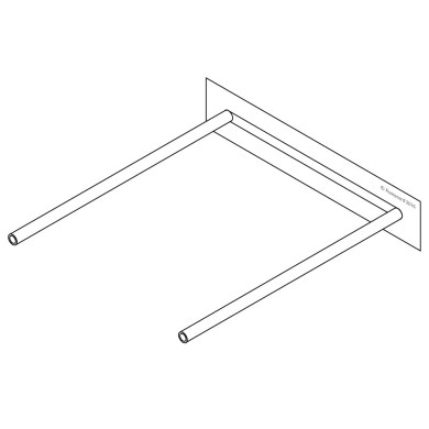 Ausrecord tube clip bases adhesive base only