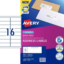 Avery 952002 16UP A4 address labels