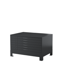 Steel Co Horizontal Plan Cabinet 6 Drawer Graphite Ripple