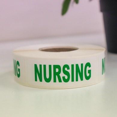 Ausrecord Nursing labels rolls of 500 70mm x 25mm