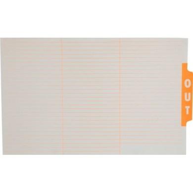 Ausrecord File out guide card Foolscap Orange