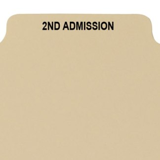 2nd admission divider buff manilla