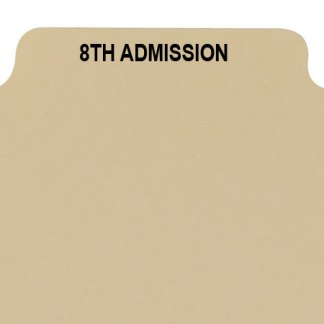 8th admission divider buff manilla