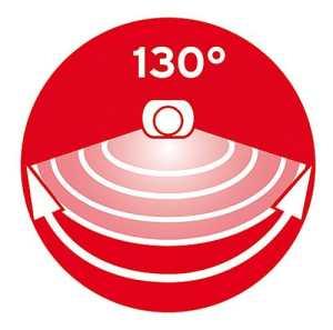 Brennenstuhl Solar LED-Strahler SOL 80 ALU IP44 mit Infrarot-Bewegungsmelder 130 Grad Radius