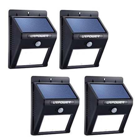 URPOWER Solar Wandleuchte mit Bewegungsmelder gibts auch im 4er Pack