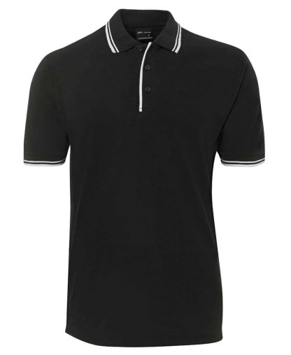 Contrast Polo - Black/White