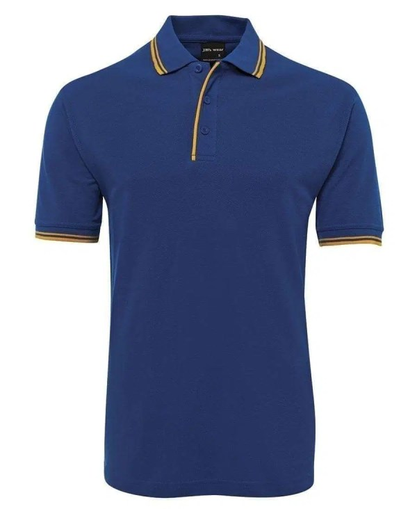 Contrast Polo - Royal/Gold
