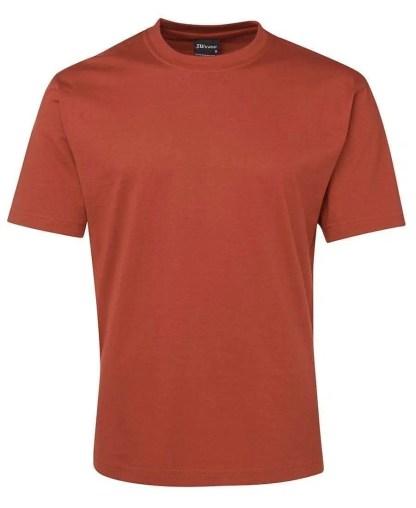 Round Neck T Shirts - Ochre
