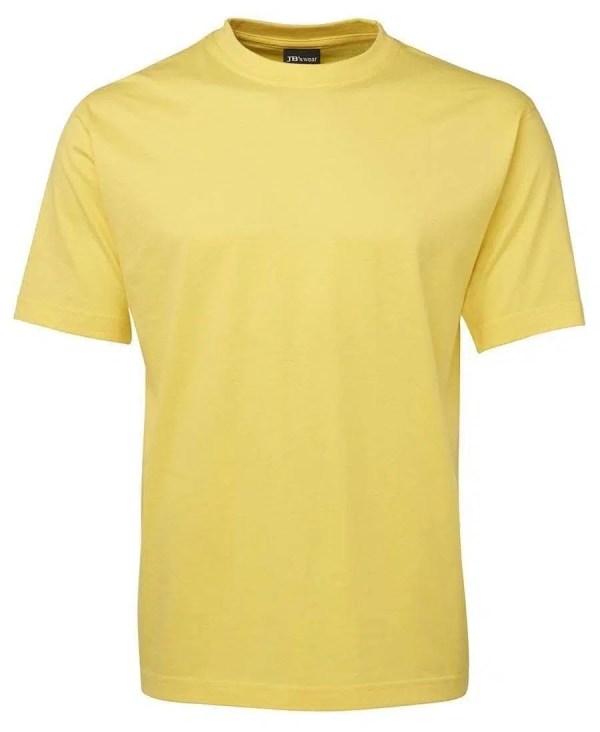 Round Neck T Shirts - Yellow