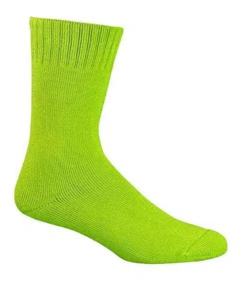 Bamboo Extra Thick Work Socks-Size 4-18 -HI VIS LIME