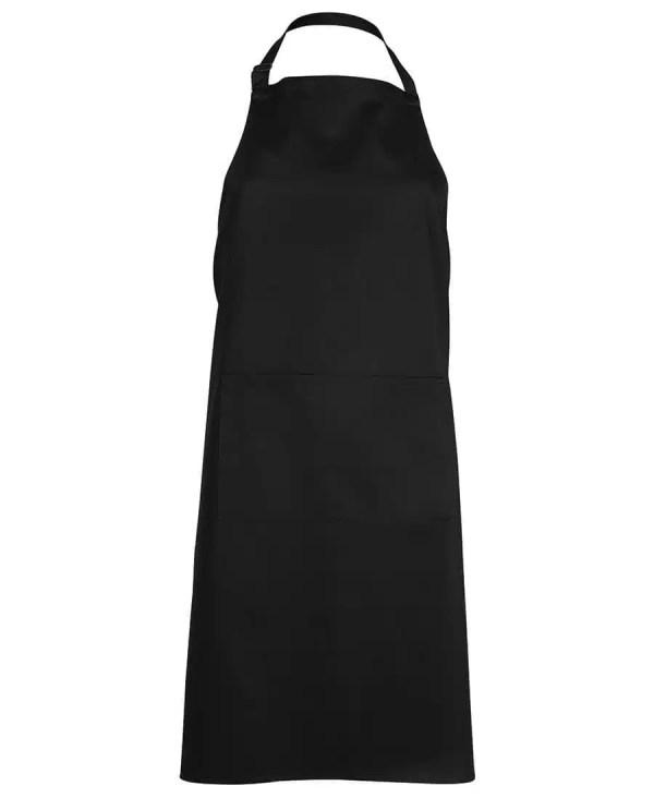 Bib Apron With Pocket - Black