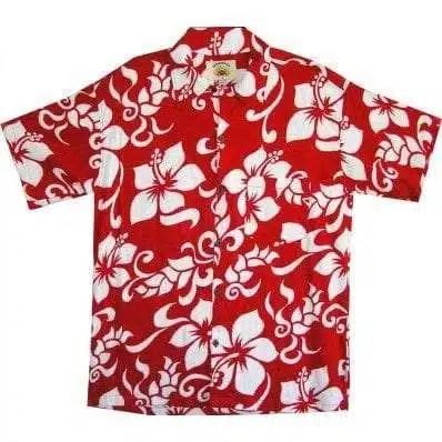 Big Island Hawaiian Shirts - Big Island Red