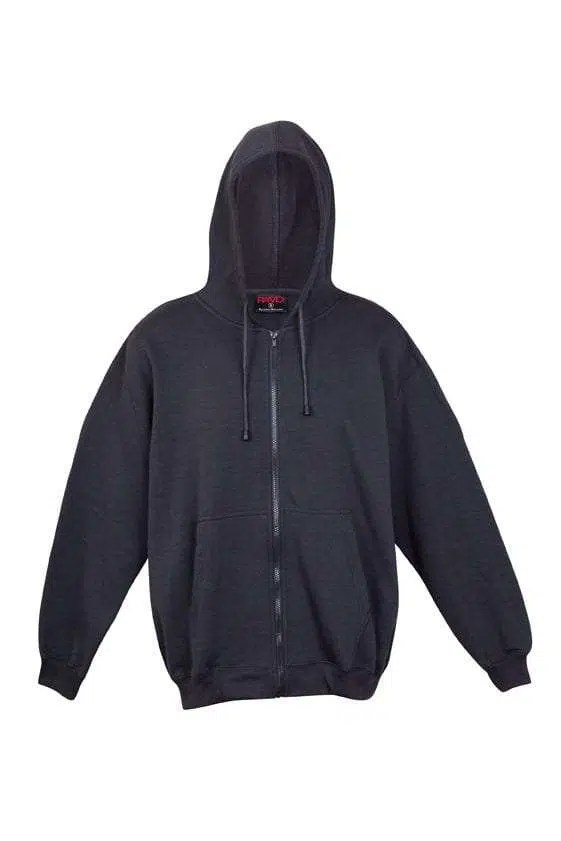 Kangaroo Pocket Hoody Full Zip Charcoal