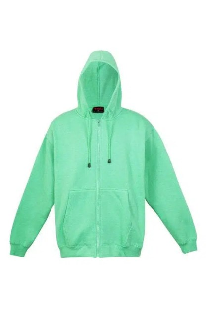Kangaroo Pocket Hoody Full Zip Emerald_Green