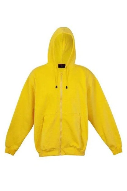 Kangaroo Pocket Hoody Full Zip Gold