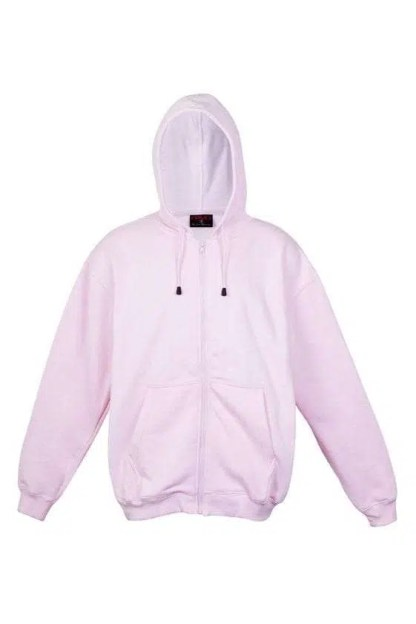 Kangaroo Pocket Hoody Full Zip Pink