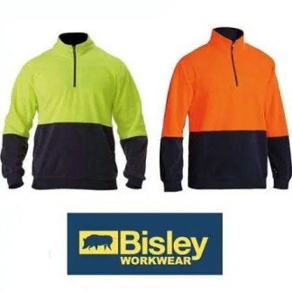 Hi Vis Polar Fleece Zip Pullover - group