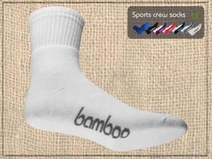 Bamboo Sports Crew Socks on Bamboo
