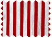 Fine Cotton - Red White Swatch