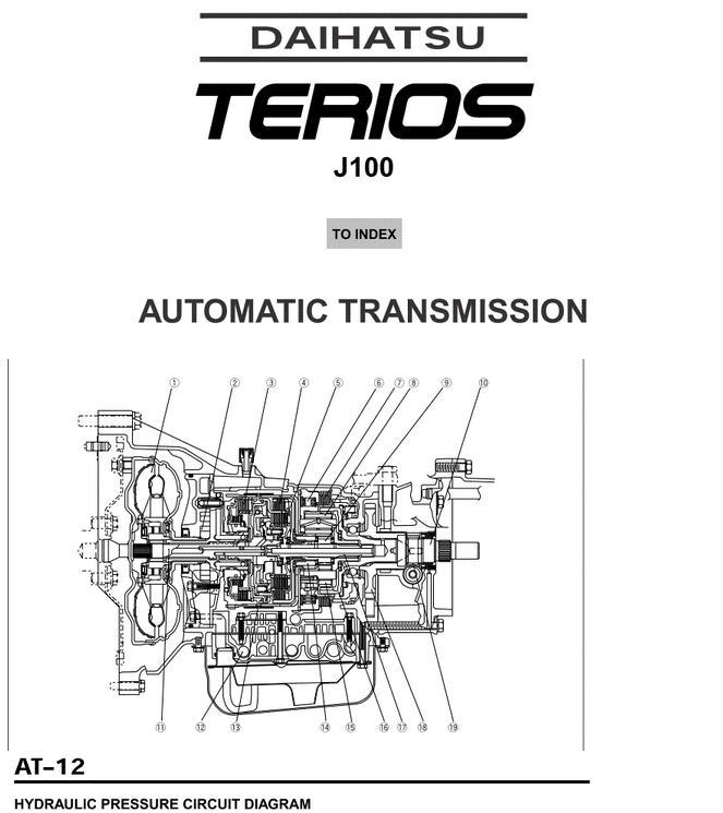 Download Daihatsu Terios J100 Service Workshop Manual