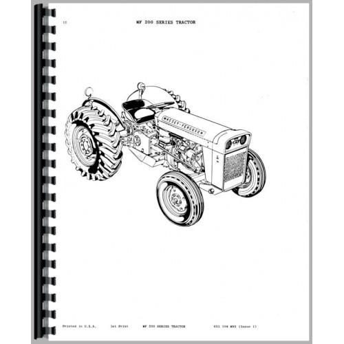 Massey Ferguson MF255 MF265 MF270 MF275 MF290 tractor