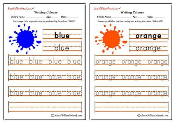 Writing Colours