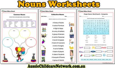 Introducing New Noun Worksheets For Children