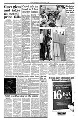 Newspaper page, 'Crowd calls for blood as 3 face murder charges', page 3